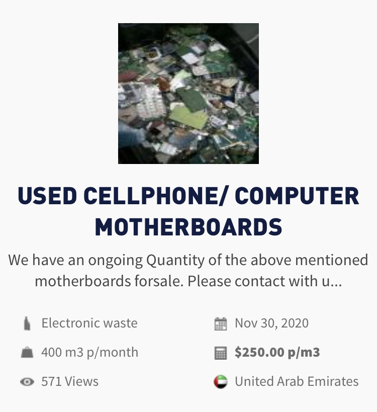 E-waste | USED CELLPHONE/ COMPUTER MOTHERBOARDS