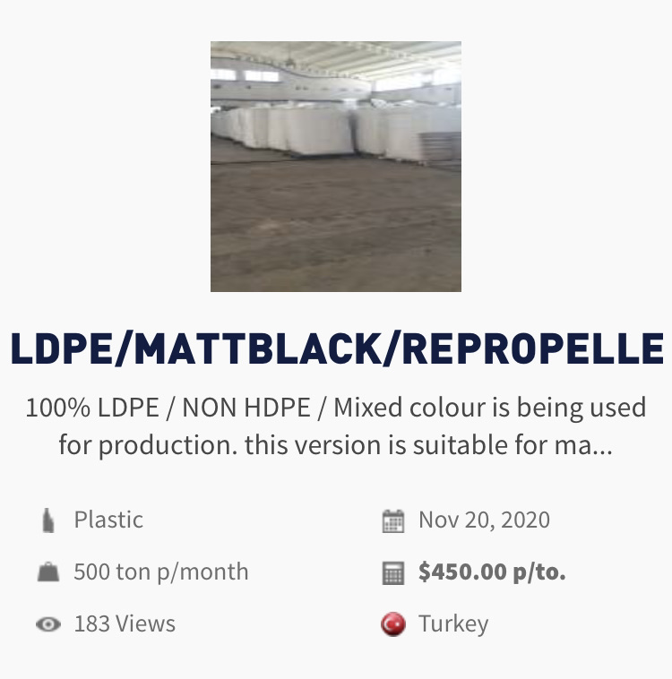 Plastic | For sale LDPE and Non HDPE