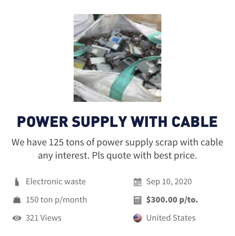 E-waste | Buy POWER SUPPLY WITH CABLE