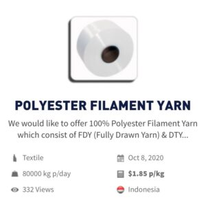 Textile | Polyester filament yarn